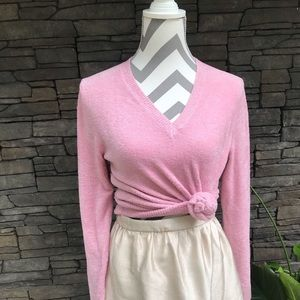 Cozy Pink Soft V neck sweater
